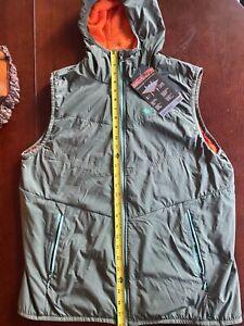 Marmot green vest with orange ascent men's large alpha 60 vest