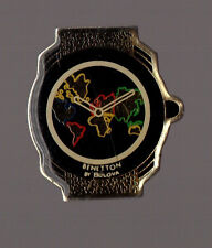 Pin's montre Bénetton by bulova (terre)