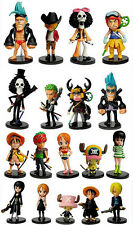 One Piece luffy chopper zoro sanji usopp nami robin brook Franky figure Set 18pc