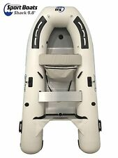 Inflatable Sport Boats Shark 9.8 ft Aluminum Floor Premium Dinghy  w/ seat bag,