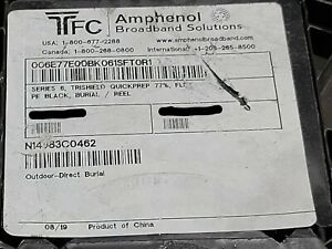 Amphenol T6TQP77-FE RG-6 Flooded Direct Burial PE Coaxial Cable RG6 Black /100ft