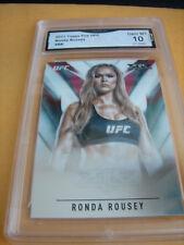 RONDA ROWDY ROUSEY WWE 2017 TOPPS CHROME UFC FIRE # RR GRADED 10