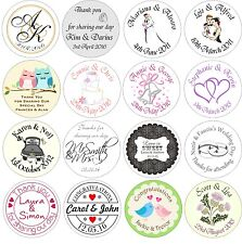 48 Personalised stickers for wedding
