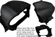BLACK STITCHING FITS LOTUS ELISE 2008-2013 SPEEDO GAUGE HOOD LEATHER COVER ONLY
