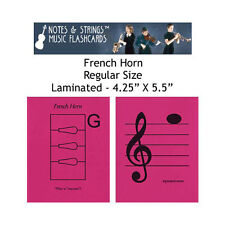 "French Horn 4.25""x5.5"" Laminated Music Flashcards"