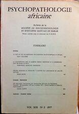 Psychopathologie africaine,Dakar,CNRS Vol.XIII n°2 1977 Kongo-Zaïre,Criminalité