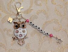 Personalised Enamel Owl/ Mortar Board Charm Graduation Day Gift Key/ Bag Charm
