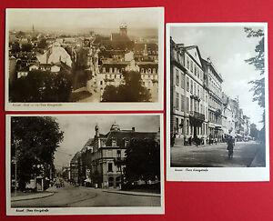 3 x Foto AK KASSEL Cassel Blick in die Obere Königsstrasse   ( 3081