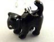 Precioso Silver & Black Cat Clip encanto Para Pulsera-Plata 925 Placa-Nueva