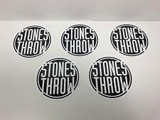 5x Stones Throw Vinyl LP Record Label Decals PB Wolf MF DOOM J Dilla Hip Hop Rap