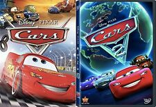 CARS 1 & CARS 2 *** BRAND NEW 2 DVD SEALED FREE SHIPPING CHILDREN*ANIMATION