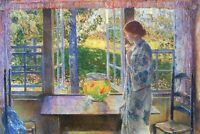 The Goldfish Window by Childe Hassam CANVAS WALL ART PICTURE 20X30 INCHES