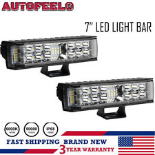 "2x 7INCH 816W CREE LED WORK LIGHT BAR SPOT OFFROAD ATV FOG TRUCK LAMP 4WD 12V 6"""