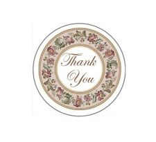 72 Thank You with Flower Ring #15 ENVELOPE SEALS LABELS STICKERS CELEBRATE 1.67""
