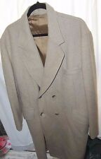 Southampton Sportswear Men's Size 44 Tan Double Breasted Wool TrenchCoat NICE!
