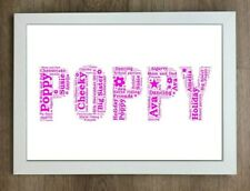 Personalised Birthday NAME Word Art print gift present unique Mothers Day