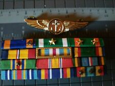 Us Navy Flight Meteorologist Badge - 12 Ribbon Rack-See Store Navy Items Medals