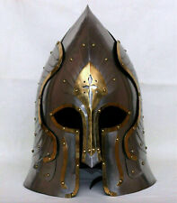 Lord Of The Ring Captain Helmet made by Steel & Brass Real Corinthian Helmet 16g