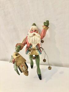 House of Hatten Denise Calla Santa Elf With Holding Lantern Christmas Ornament