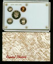 1990 Proof Coins in this Vintage Capital Plastic Coin Holder White Birth Year  m