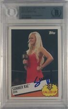 2015 Topps WWE Heritage Wrestling NXT Called Up #20 Summer Rae Auto Authentic
