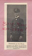 1918, Bildnis Portrait Fotografie Oberleutnant z. S. Menzel. U-Boot-Kommandant