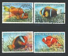 PAPUA NEW GUINEA 659-62 SG539-42 Used 1987 Anemone Fish set of 4 Cat$8