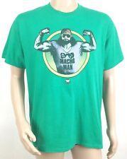 WWE Macho Man Randy Savage Mens T-shirt Size Large Wrestling Legends Green NEW