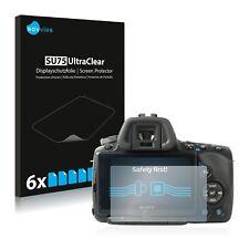 6x Sony Alpha 55 (SLT-A55V) Displayschutzfolie Klar Transparent Schutzfolie