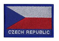Ecusson patche patch Pays REPUBLIQUE TCHEQUE Tchèque 70 x 45 mm brodé à coudre