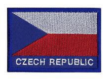 Ecusson patche patch brodé à coudre Pays REPUBLIQUE TCHEQUE Tchèque 70 x 45 mm