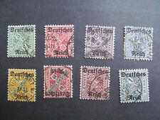 DR-Dienst Nr.  57-64, 1920, Dienstmarken Ziffern in Schildern, gestempelt BS