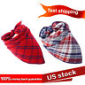 Plaid Dog Bandana Scarf Pack Small to Large Dogs Reversible Kerchief Accessories