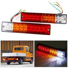 2PC Rear Tail Stop 12V Reverse LED Light Indicator Lamp Trailer Truck Caravan BT