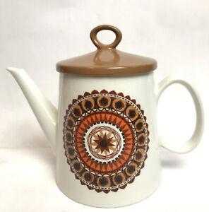 Vintage Retro Swinnertons Ironstone Tea Coffee Pot Inca Pattern? Made England