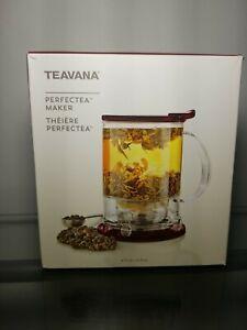 Teavana Perfectea Perfect Tea Maker 16oz Cranberry Loose Leaf Tea Steeper NEW