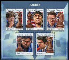 GUINEA BISSAU 2017 CHESS LAGRAVE, BARBASA, KRAMNIK, NAKAMURA  SHEET MINT NH