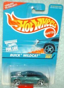 Hot Wheels 1997 #597 Buick Wildcat green,grey engine variaton VHTF ex.card