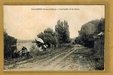 Cpa Villennes Seine et Oise - les bords de la Seine tp0298