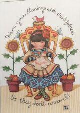 Mary Engelbreit Artwork-Hem Your Blessings-Handmade Magnets