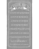 """""""Recipe for Love""""  Canvas Wall Art Picture Vintage Shabby Chic Decor 50 x 100cm"""