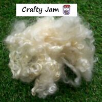 Teeswater Natural White Curly Locks 3D Projects. Needle Felting Wool 20g