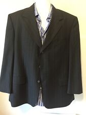 Brooks Brothers 3 Button Blazer Sport Coat Suit Jacket Pin Stripe 43R Gray