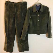 Mac & Jac Size 10 Green Corduroy Pants and Jacket Suit Set