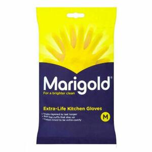 Marigolds Extra Life Kitchen Gloves Size Medium x 4 Pairs Brand New & Sealed