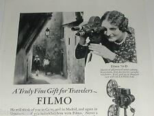 1929 Bell & Howell Filmo advertisement, FILMO 70-D Movie Camera