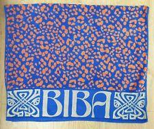 Biba Beach Towel Leopard Print Pattern Blue & Orange