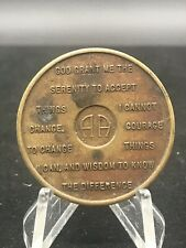 AA 3 month Recovery coin token bronze To thine own self be true Unity Service