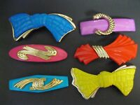 80/'s Nos Vtg New Large Choose Your Color French Clip Lucite Hair Barrette 70/'s