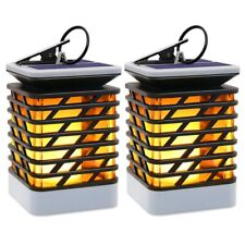 NEW HALLOMALL OUTDOOR HANGING LIGHTS SOLAR LANTERNS WATERPROOF IP55 2 PACK!